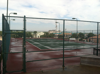 Tennis court at Sea Chase